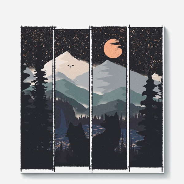 Холст «Two and The Moon»