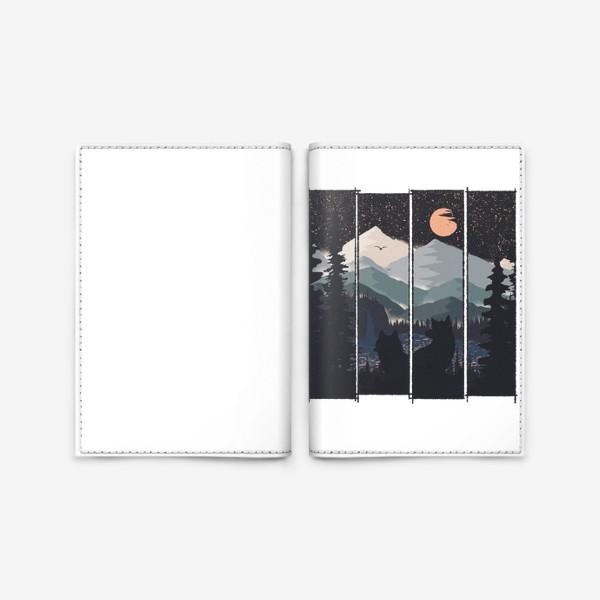Обложка для паспорта «Two and The Moon»