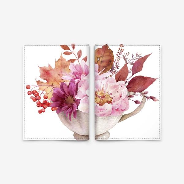 Обложка для паспорта «Осень в чашке»