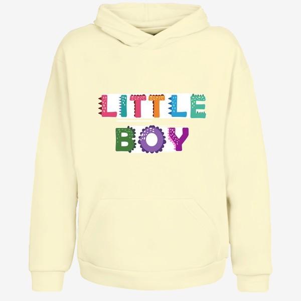 Худи «Маленький мальчик. Яркая детская надпись»
