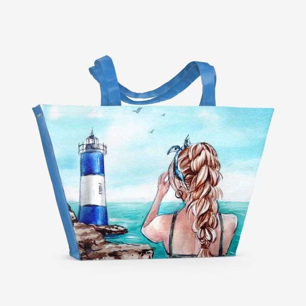 Пляжная сумка «ласковое море»
