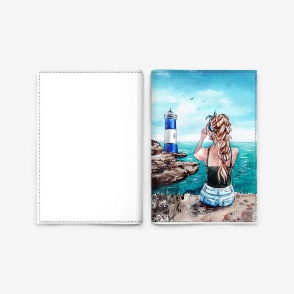 Обложка для паспорта «ласковое море»