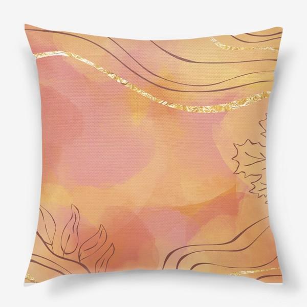 Подушка «Осенняя абстракция 2»