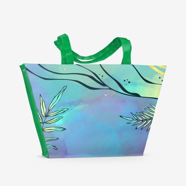 Пляжная сумка «Абстракция. Тропики»