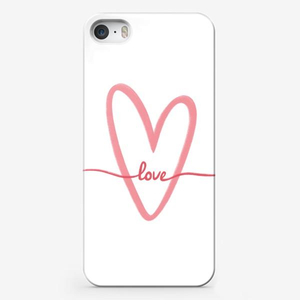 Чехол iPhone «Любовь. Love. Сердце»