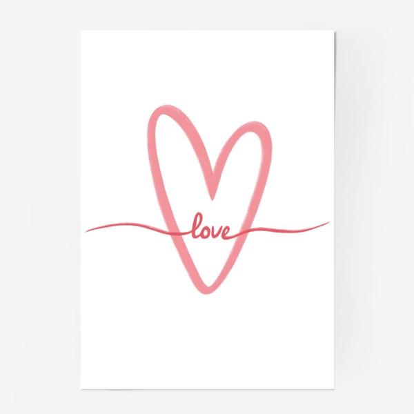 Постер «Любовь. Love. Сердце»