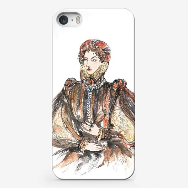 Чехол iPhone «Красивая девушка в историческом костюме»