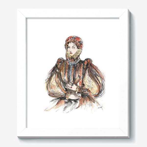 Картина «Красивая девушка в историческом костюме»
