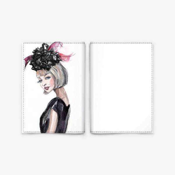 Обложка для паспорта «Кокетка в шляпке»