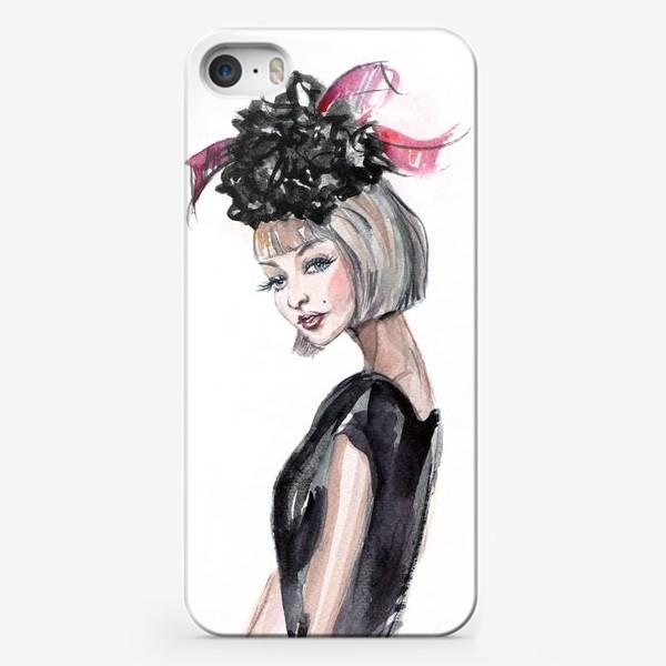 Чехол iPhone «Кокетка в шляпке»