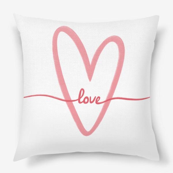 Подушка «Любовь. Love. Сердце»