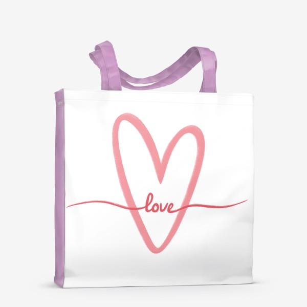 Сумка-шоппер «Любовь. Love. Сердце»