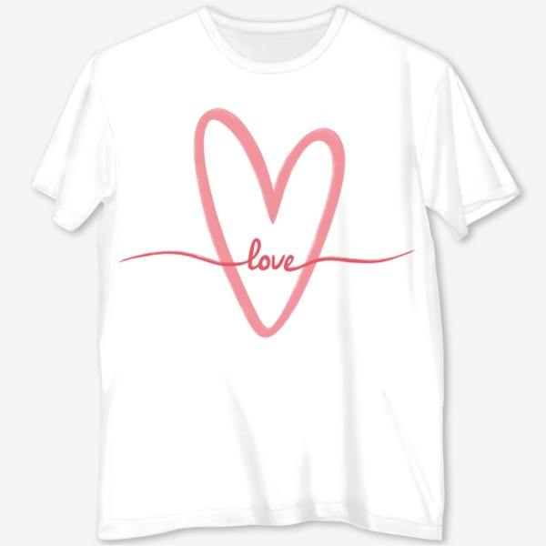 Футболка с полной запечаткой «Любовь. Love. Сердце»