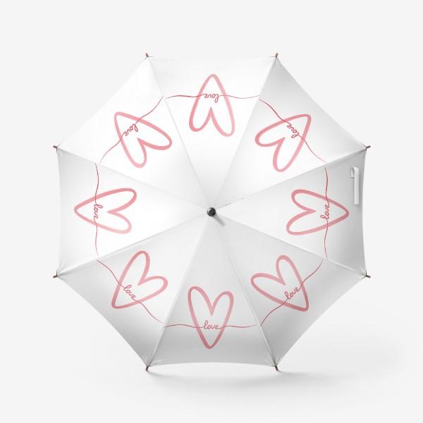 Зонт «Любовь. Love. Сердце»