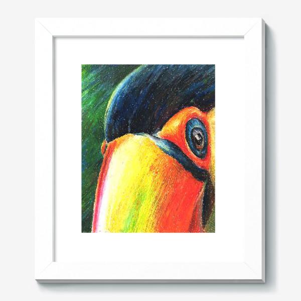 Картина «Привет! Птица. Тукан.Тропики»