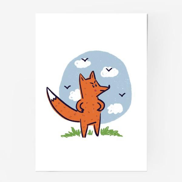 Постер «Недовольный рыжий лис»