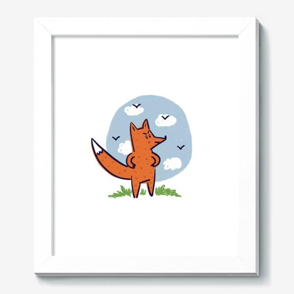 Картина «Недовольный рыжий лис»