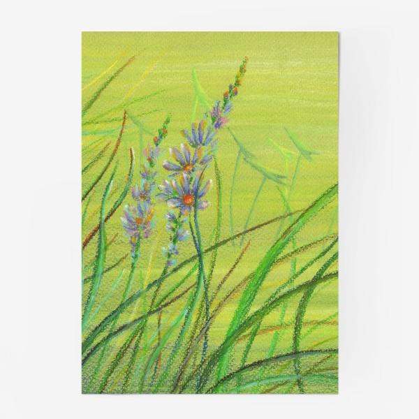 Постер «Зеленая заводь. Лето. Цветы. Река.»