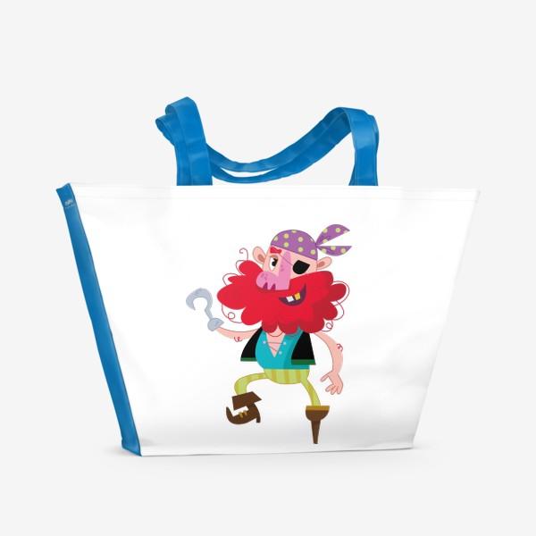 Пляжная сумка «Веселый одноногий пират»