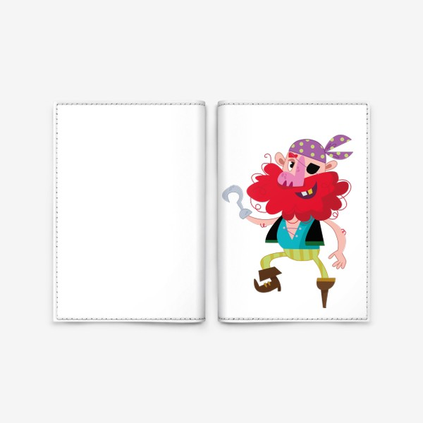 Обложка для паспорта «Веселый одноногий пират»