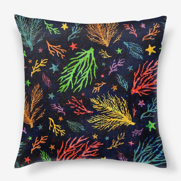 Подушка «Разноцветный кораллы»