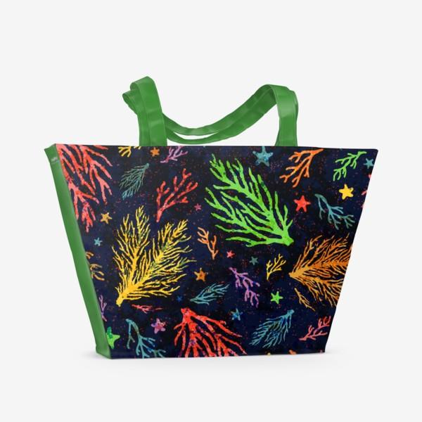 Пляжная сумка «Разноцветный кораллы»