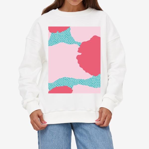 Свитшот «абстрактный фон розовые пятна»