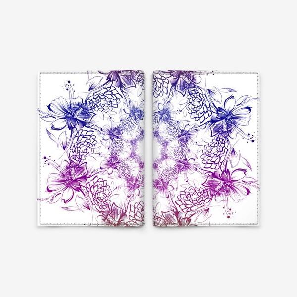 Обложка для паспорта «Венок с ромашками»