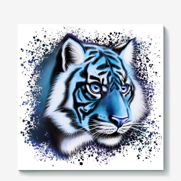 Холст «Ледяной Тигр. Символ 2022 года»