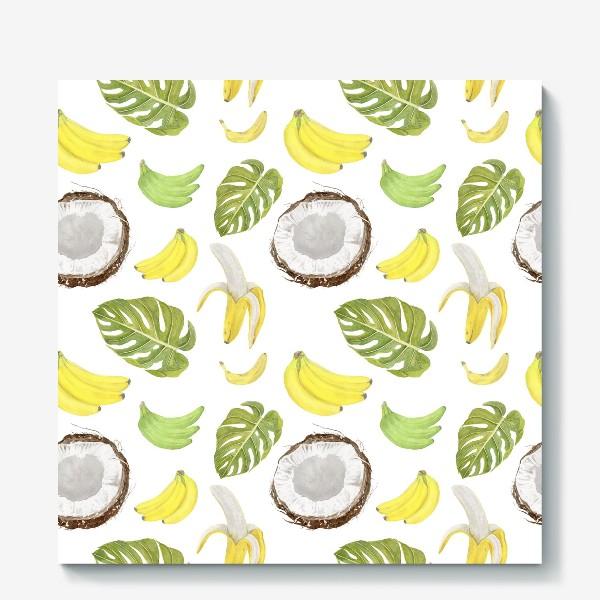 Холст «Бананы, кокосы»
