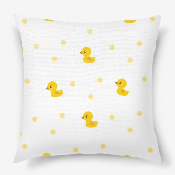 Подушка «Милые утятя. Паттерн для малышей»