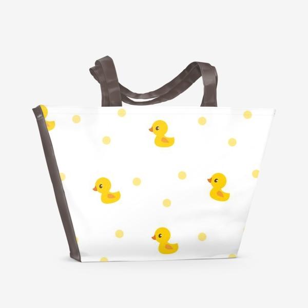 Пляжная сумка «Милые утятя. Паттерн для малышей»