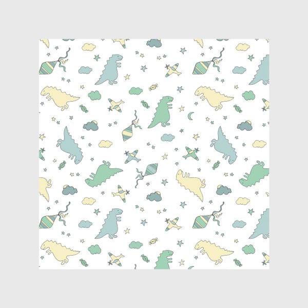 Скатерть «Милые динозавры бесшовный узор. Детский принт»