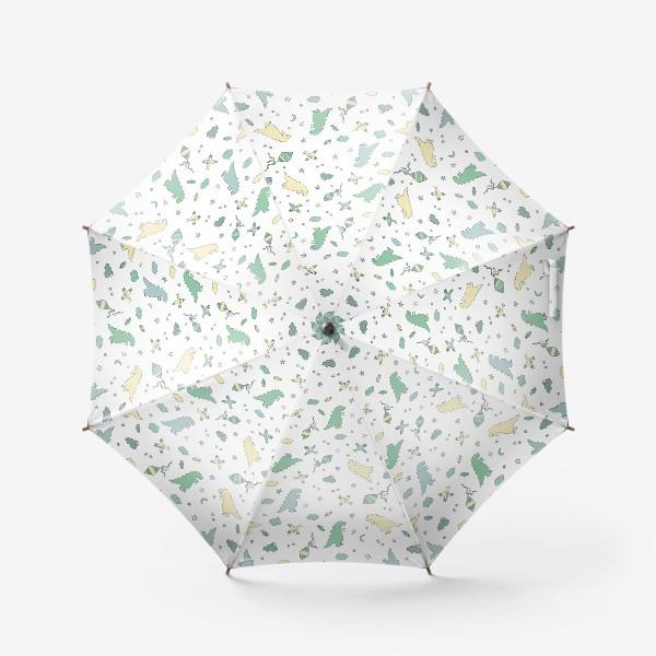 Зонт «Милые динозавры бесшовный узор. Детский принт»