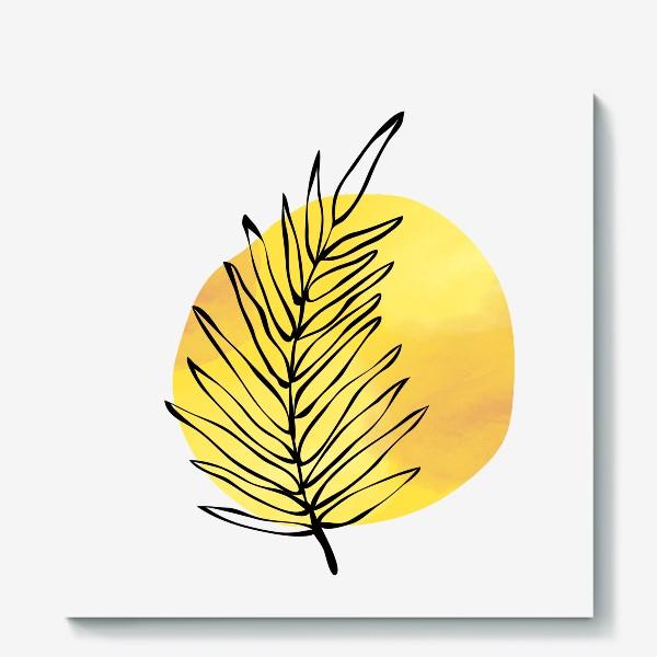Холст «Пальмовый лист. Абстракция»