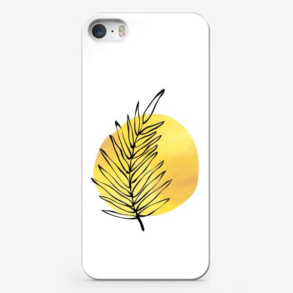 Чехол iPhone «Пальмовый лист. Абстракция»