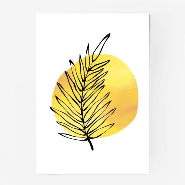 Постер «Пальмовый лист. Абстракция»