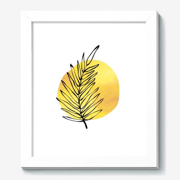 Картина «Пальмовый лист. Абстракция»