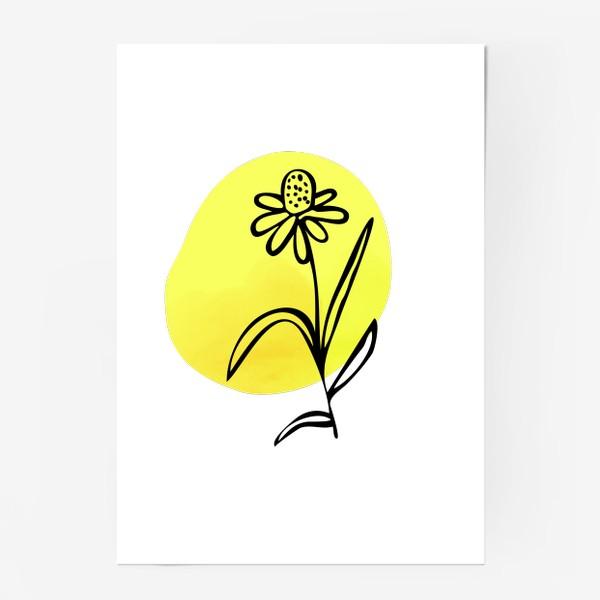Постер «Ромашка. Абстракция»