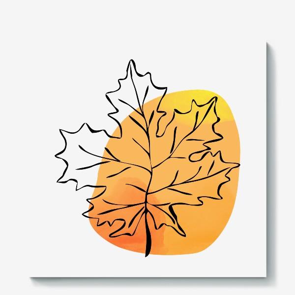 Холст «Кленовый лист. Абстракция»