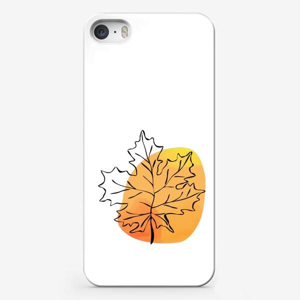 Чехол iPhone «Кленовый лист. Абстракция»