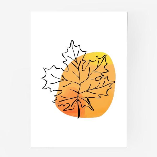 Постер «Кленовый лист. Абстракция»