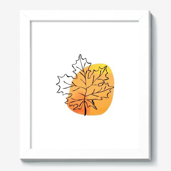 Картина «Кленовый лист. Абстракция»