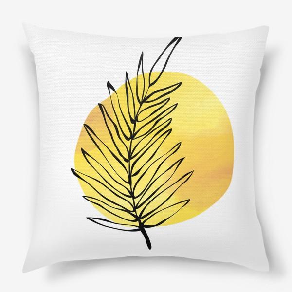 Подушка «Пальмовый лист. Абстракция»