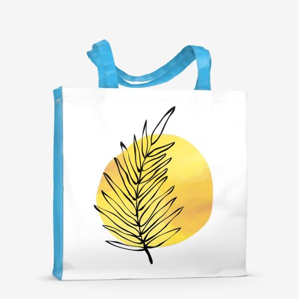 Сумка-шоппер «Пальмовый лист. Абстракция»