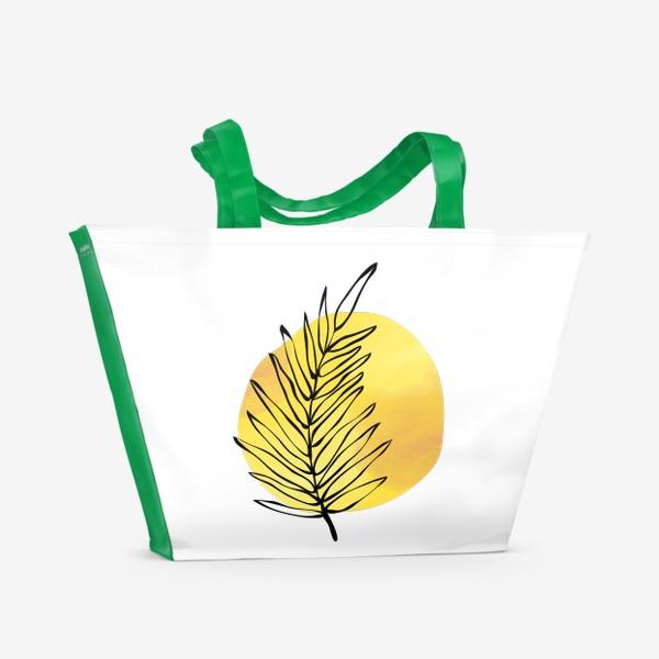 Пляжная сумка «Пальмовый лист. Абстракция»