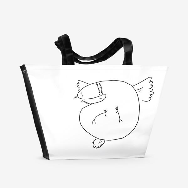 Пляжная сумка «Птица летит»