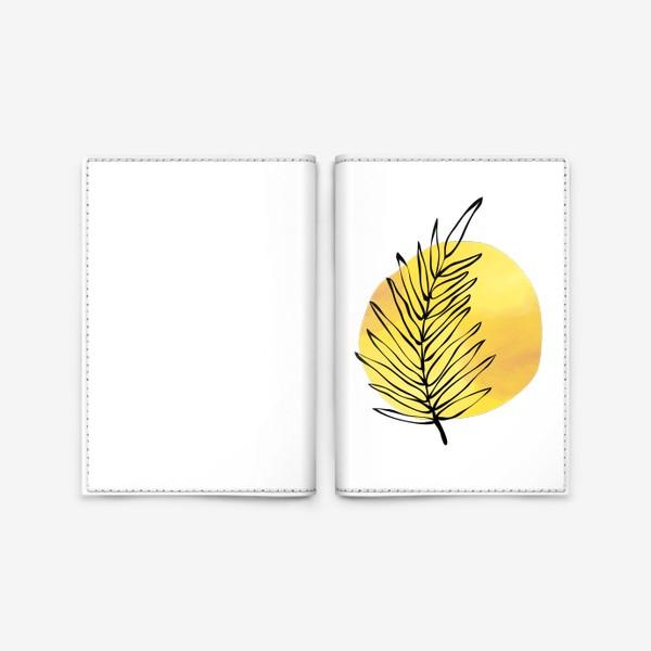 Обложка для паспорта «Пальмовый лист. Абстракция»