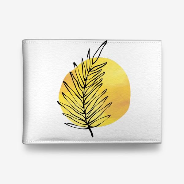 Кошелек «Пальмовый лист. Абстракция»