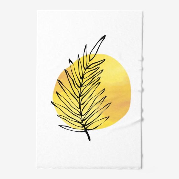 Полотенце «Пальмовый лист. Абстракция»